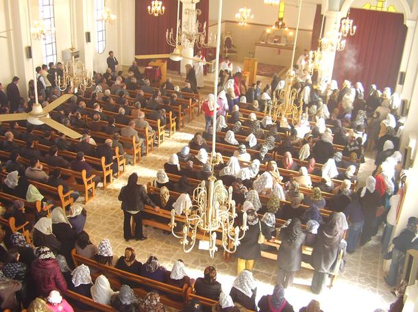 Assyrian celebration in Hassakeh: أقيم في كنيسة السيدة العذراء بمدينة الحسكة السورية